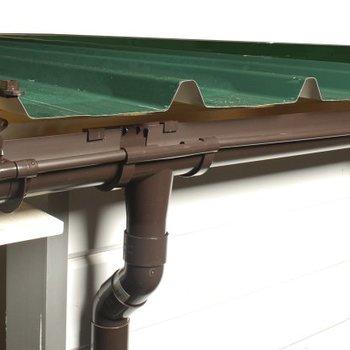 Gootset voor blokhut plat dak monopente max 605cm