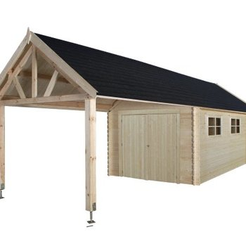 Garage en madrier 28mm 320x910cm - GLOUCESTER XL