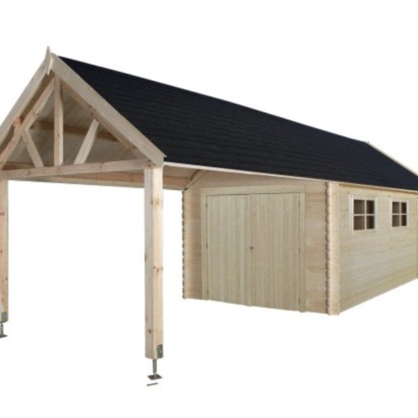 Garage en madrier 28mm 320x910cm - GLOUCESTER XL
