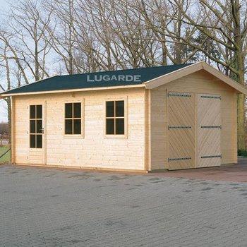 Garage LUGARDE en madriers 44mm 300X500cm  G1