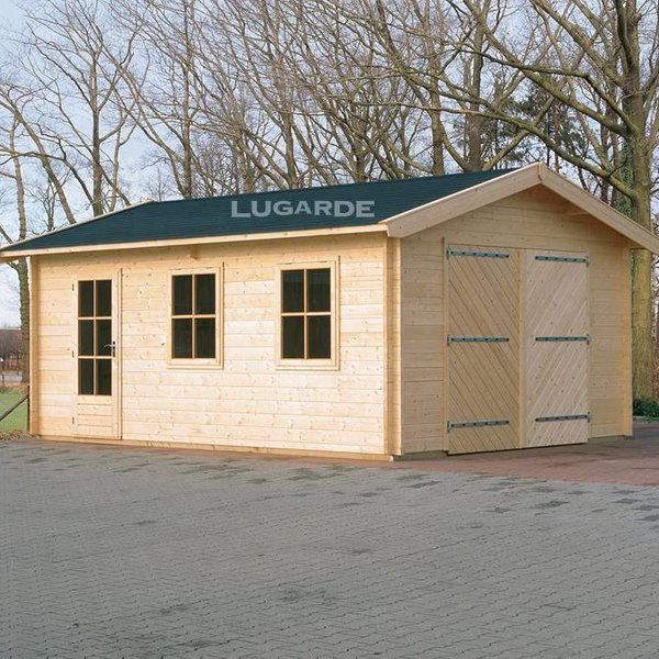 Garage hellend dak LUGARDE in wanden 44mm 300X500cm  G1