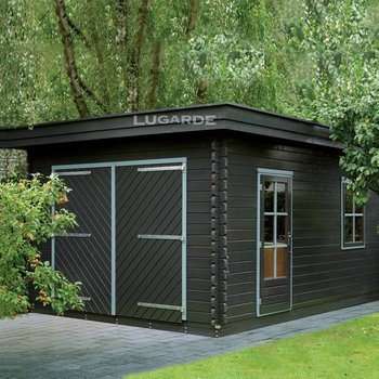 Garage plat dak LUGARDE in wanden 44mm 350X500cm  G2