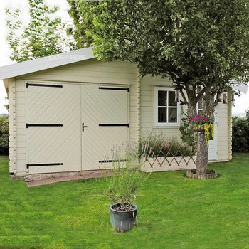 Garage LUGARDE en madriers 44mm 650X550cm  G9