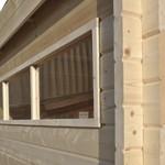 Tuinhuis in 44mm wanddikte MODERN 415x385 cm