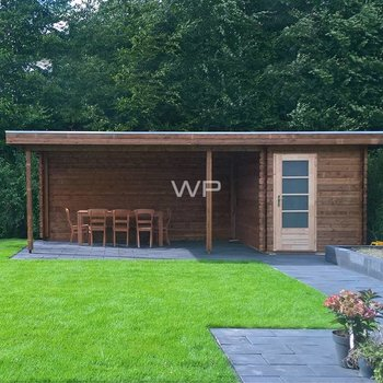 Chalet  WOODPRO en maderiers 44mm 300X700cm