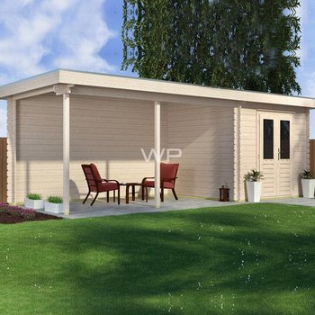 Chalet  WOODPRO en maderiers 44mm 300X800cm
