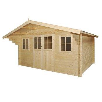 Abri de jardin en madriers 28mm 2 pentes - Constructions en bois !