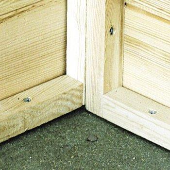 Plancher en bois complet pour abri de jardin 12mm 180x180cm