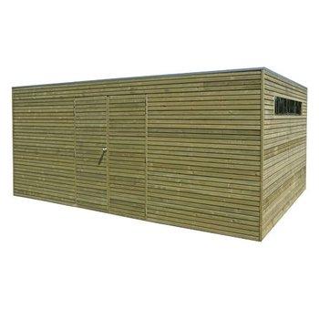 Abri de jardin en madrier 28mm QUBE 420x300cm