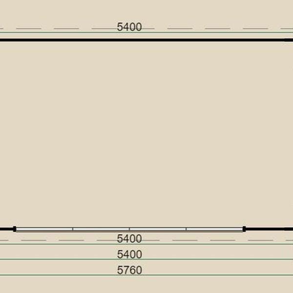 Blokhut  LUGARDE PRIMA in wanden 44mm PR21 300x 540cm