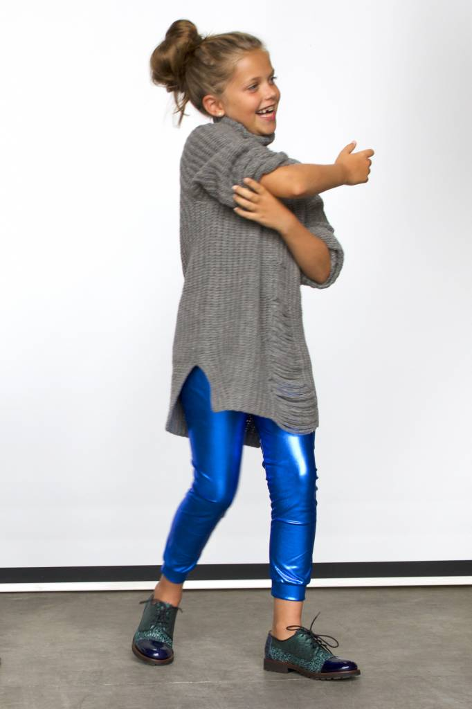 Gardner & the gang Metallic leggings blue