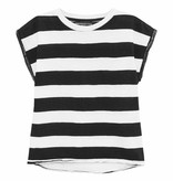How to kiss a frog Cut tee white/black stripe