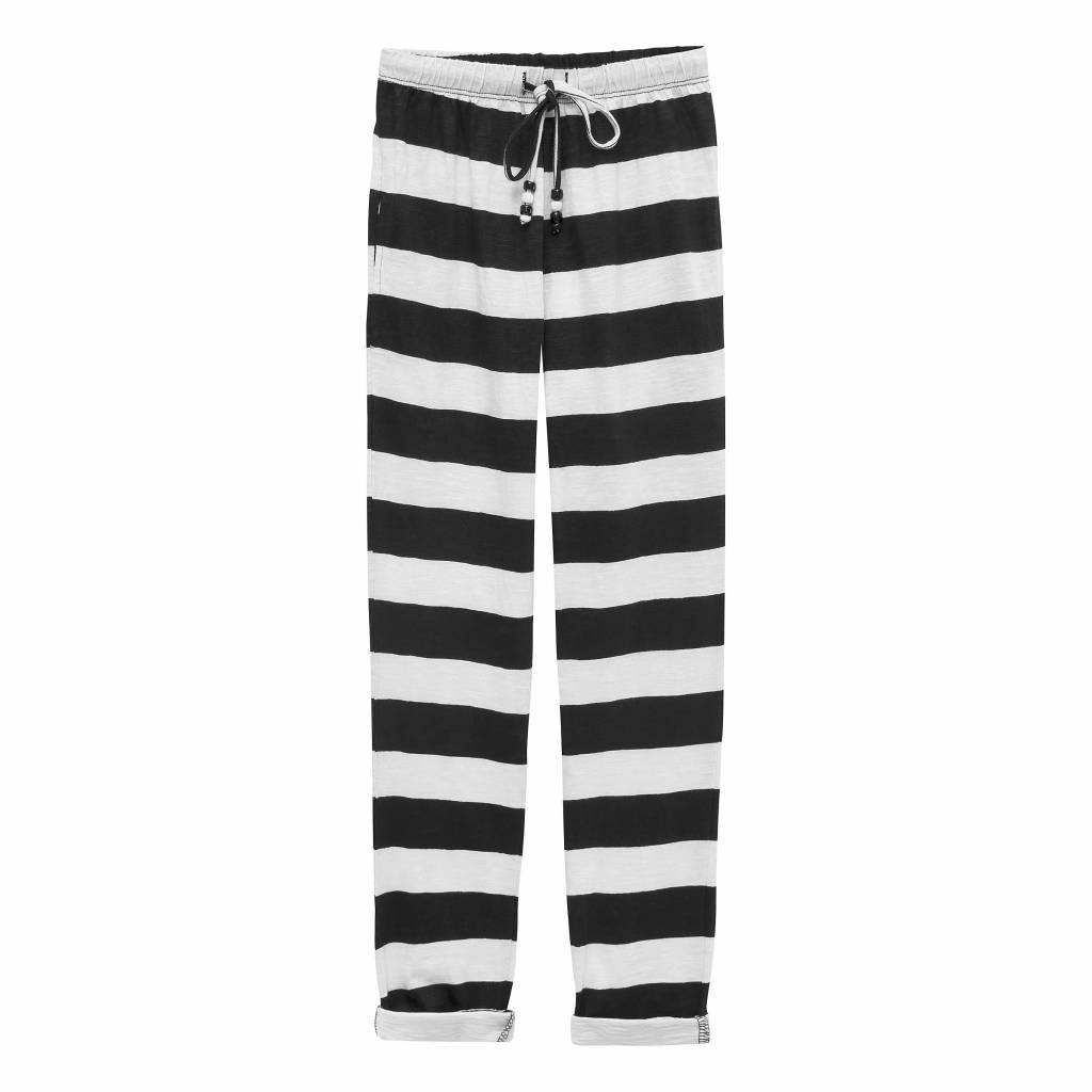 How to kiss a frog Todo pants white/black stripe