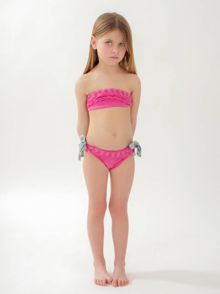 Cazandomariposas  Strapless bikini fuchsia
