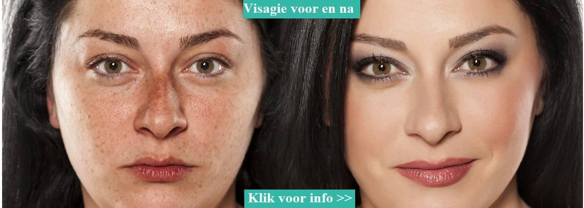 Visagie voor en na