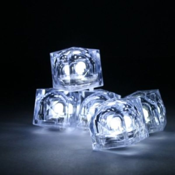 Light Up Ice Cubes White - GlowFactory.co.uk