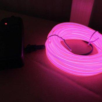EL Wire 5 meter Pink