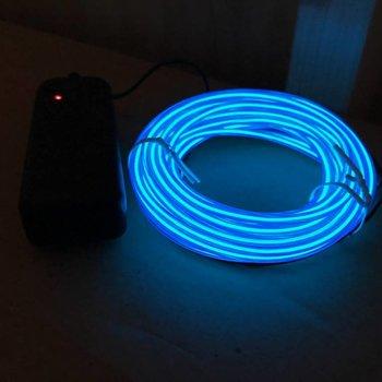 EL Wire 5 meter Blue