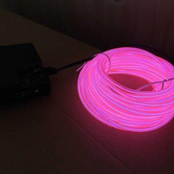 EL Wire 10 meter Pink