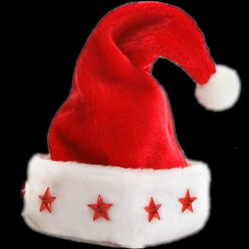 Light Up Santa Hat Deluxe / Luxury Christmas hat with light
