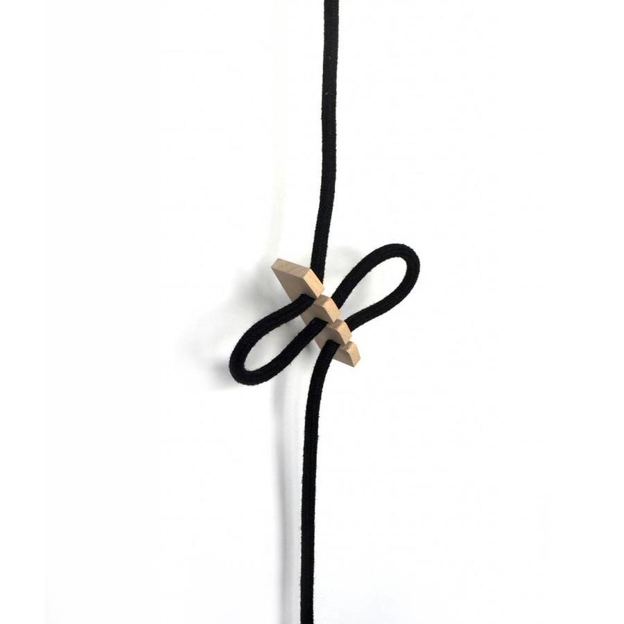 Cord clip Knut wood