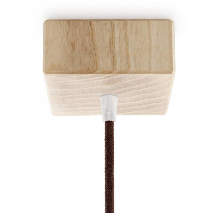 Wooden Ceiling Rose 'Woody' Square - 1 cord