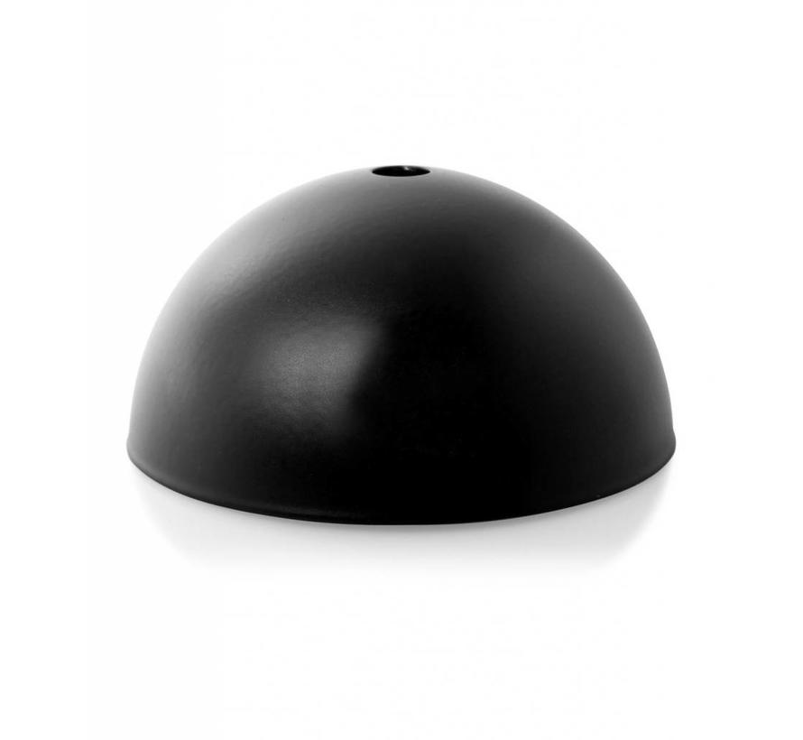 Plafondkap 'Hemming' metaal Zwart