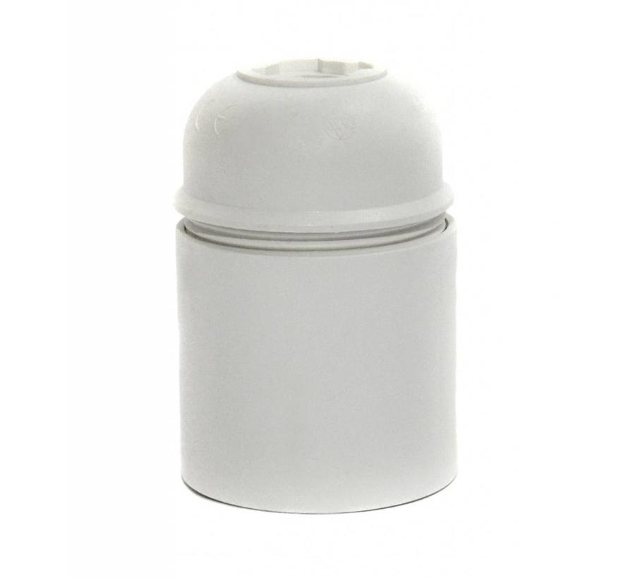 Binnen fitting thermoplastic wit E27