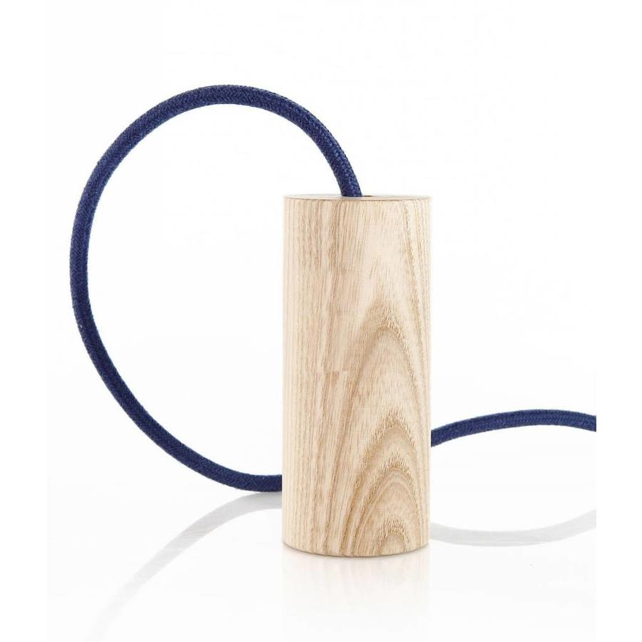 Fitting 'Woody' cilinder hoog Hout E27