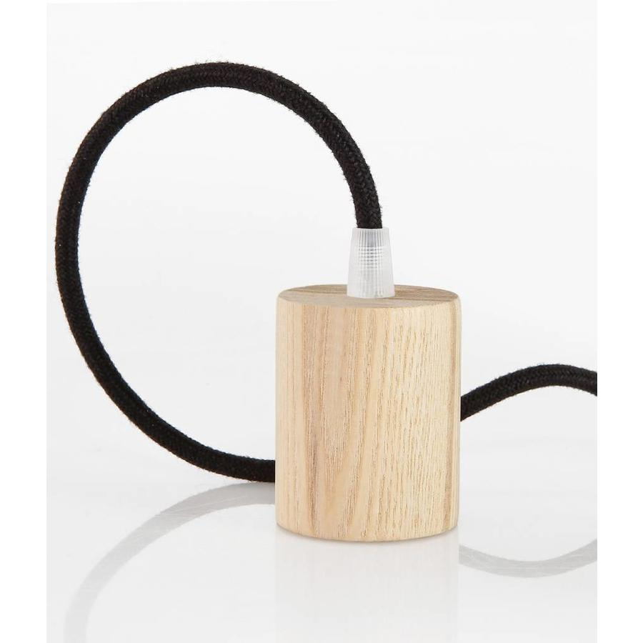 Wooden Lamp Holder 'Woody' Cylinder E27-2