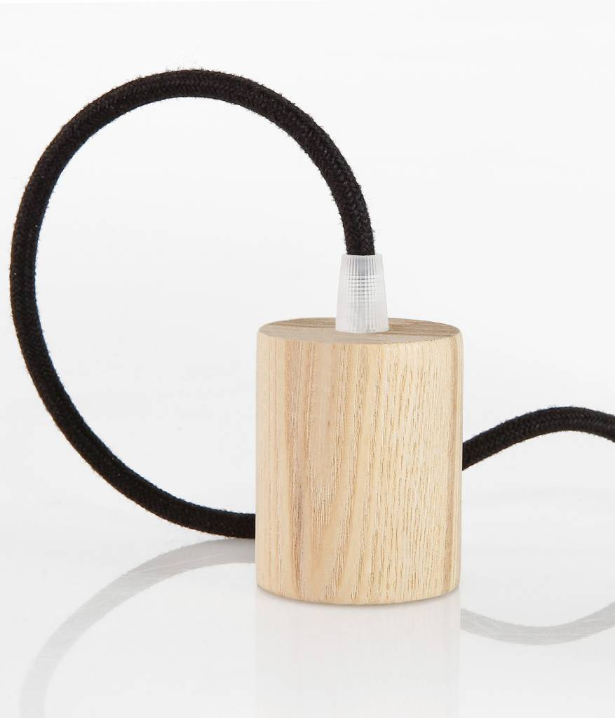 Wooden Lamp Holder Woody Cylinder E27 Kynda Wiring A Fitting Enlarge Image