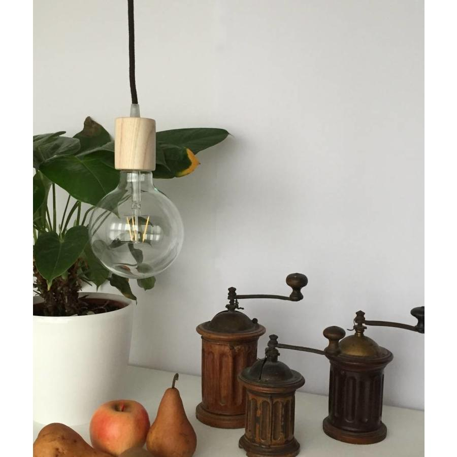 Wooden Lamp Holder 'Woody' Cylinder E27-3