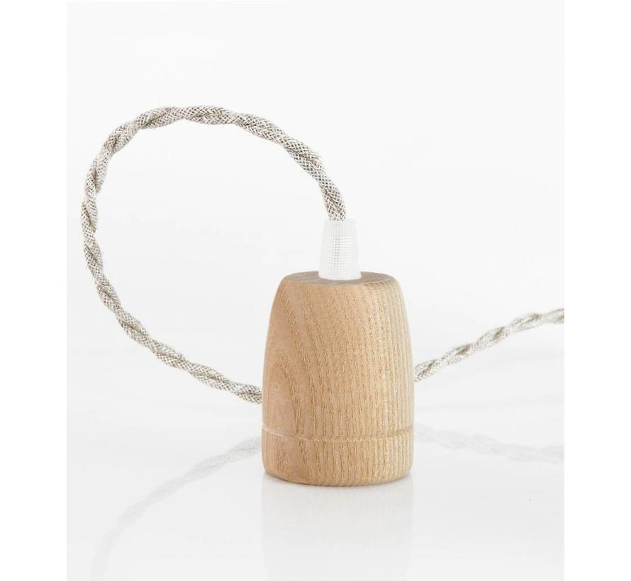 Wooden Lamp Holder 'Woody' Classic E27