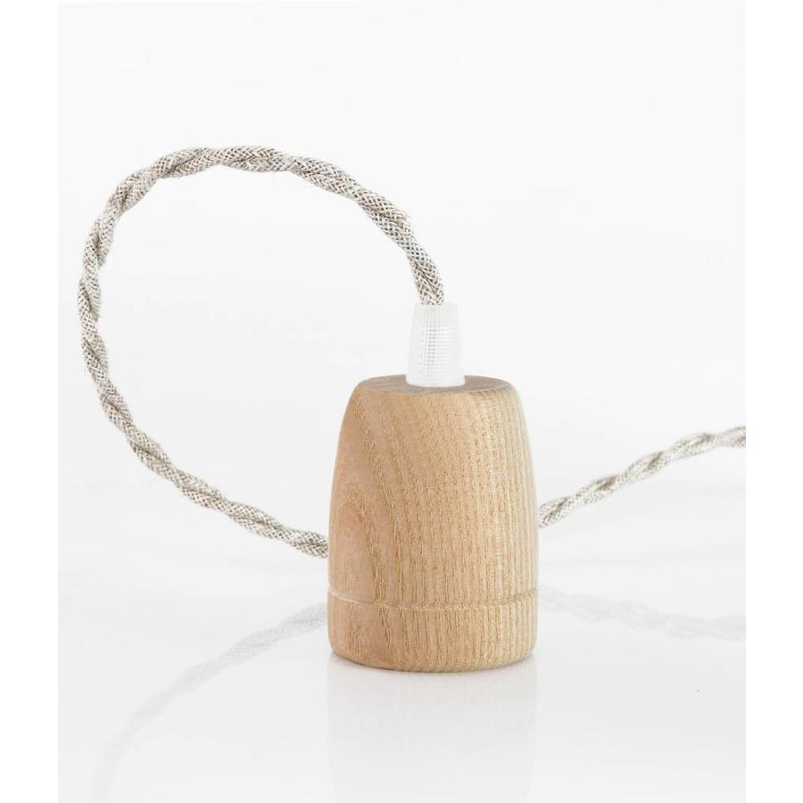 Wooden Lamp Holder 'Woody' Classic E27-2