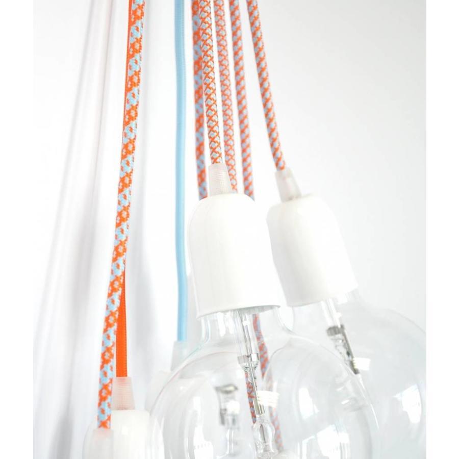 Metal Lamp Holder 'Soren' white E27-2