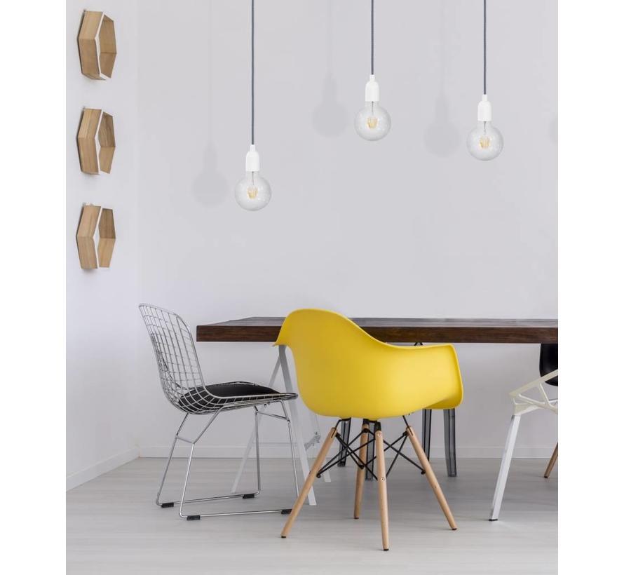 Metal Lamp Holder 'Soren' white E27