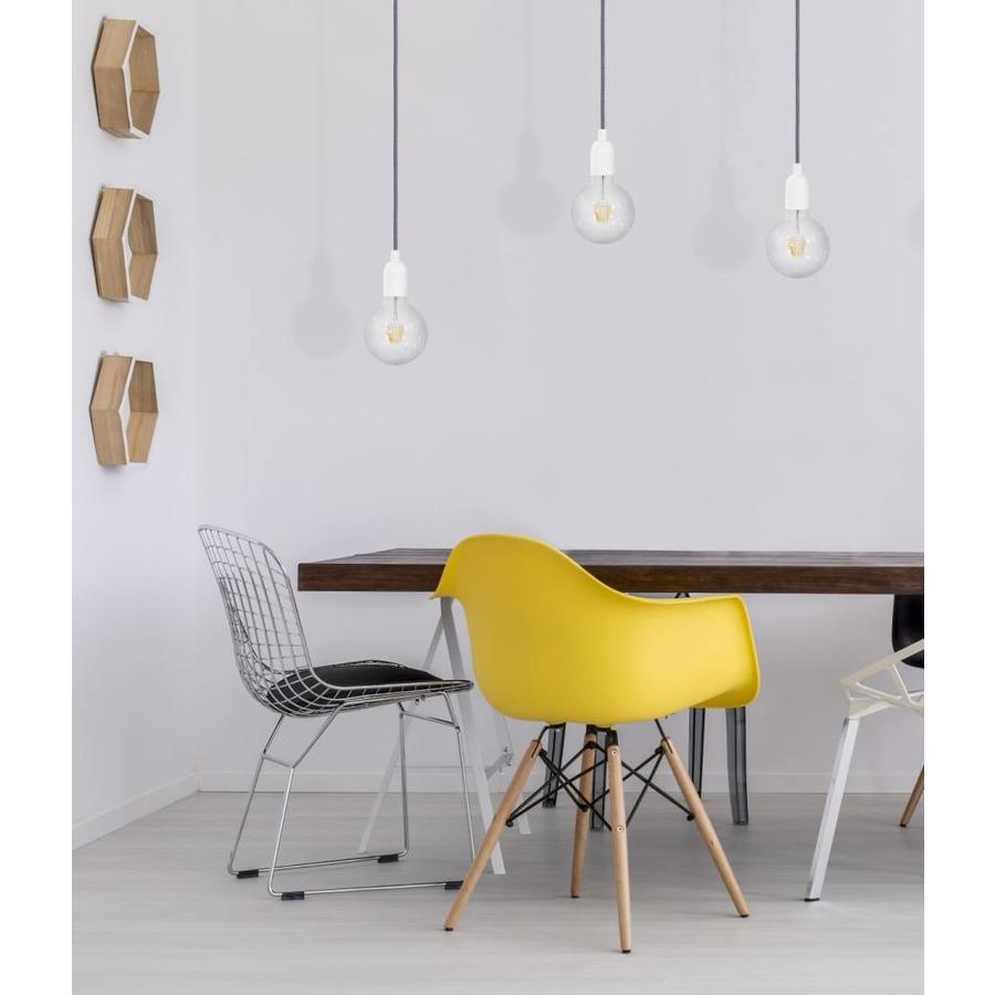 Metal Lamp Holder 'Soren' white E27-3