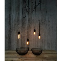 Metal Lamp Holder 'Soren' black E27