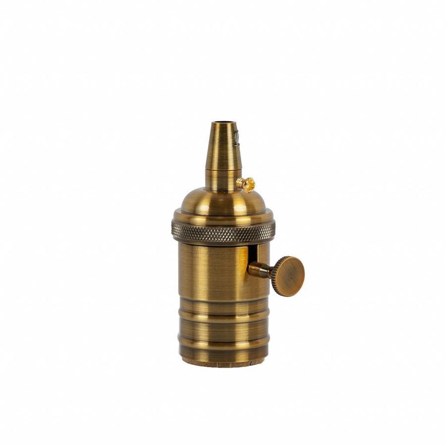 Fitting 'Frey' met schakelaar metaal Goud Brons E27-1