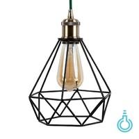 Metal Lamp Holder 'Bernt' antique bronze E27