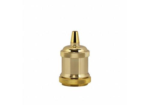 Metal Lamp Holder 'Bernt' gold
