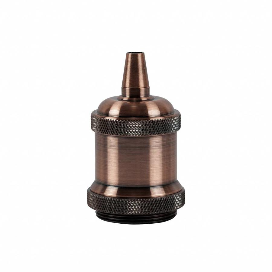 Metal Lamp Holder 'Bernt' copper E27