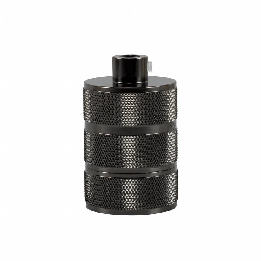 Fitting 'Hallvor' metaal Zwart E27