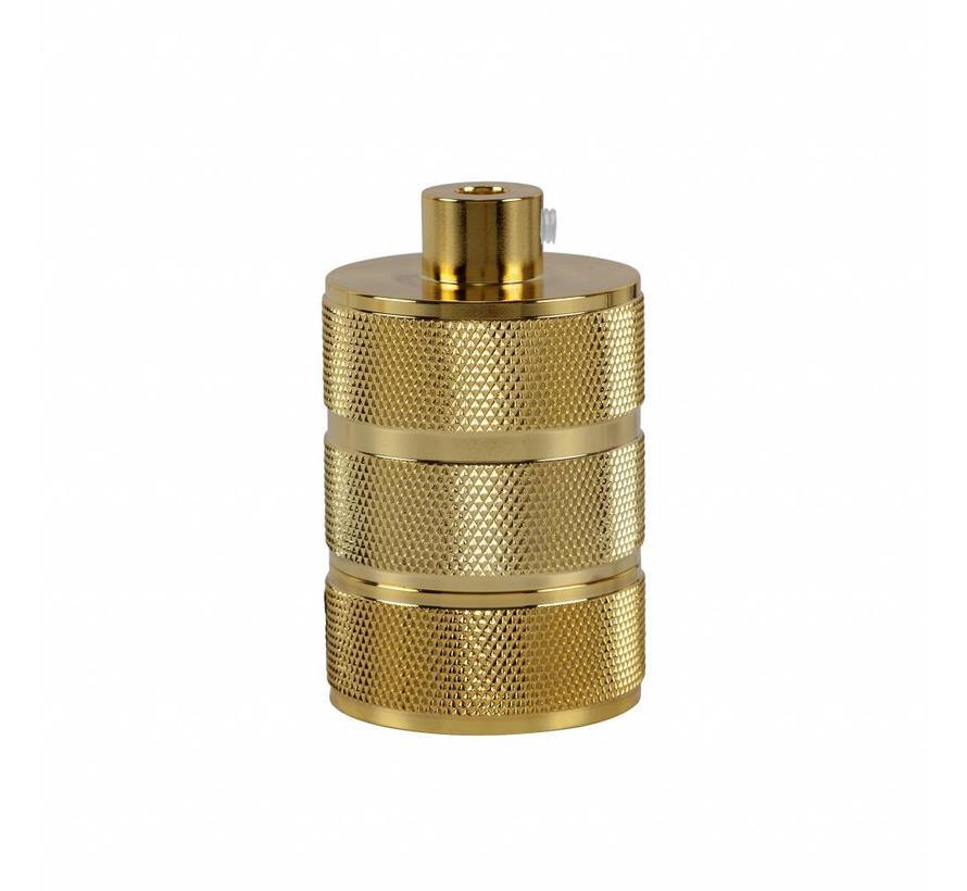 Metal Lamp Holder 'Hallvor' gold E27