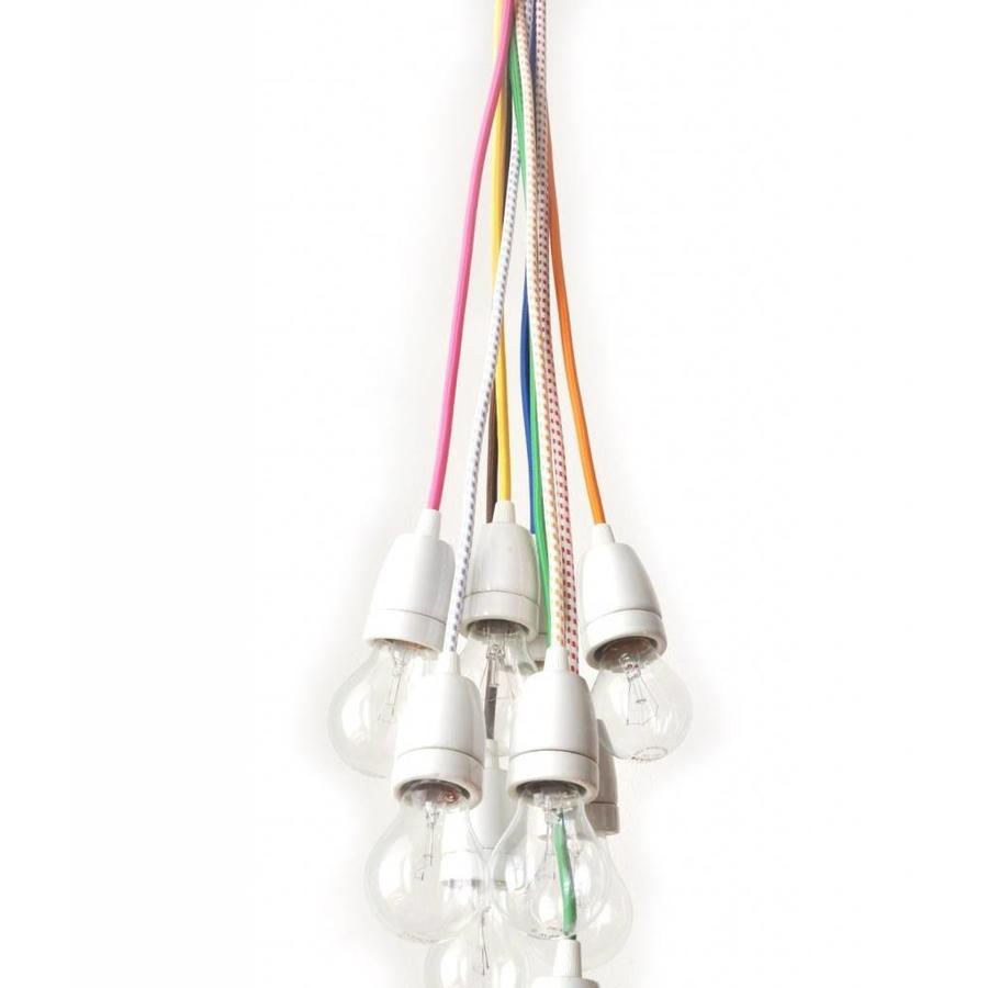 Porcelain Lamp Holder 'Loki' white E27
