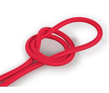 Kynda Light Fabric Cord Red - round, solid