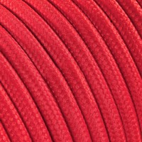 Strijkijzersnoer Rood - rond, effen stof