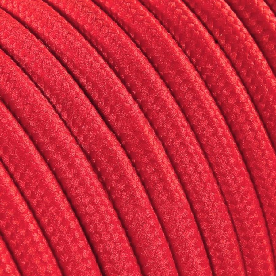 Fabric Cord Red - round, solid