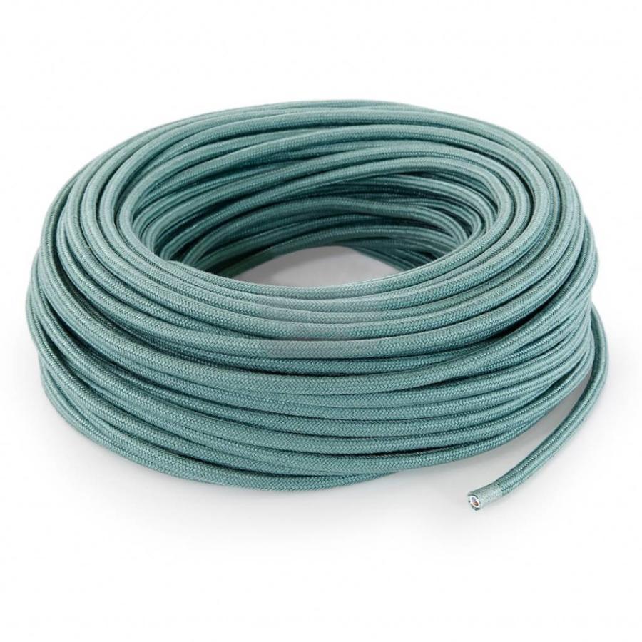 Fabric Cord Sage - round, linen