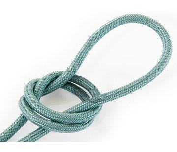 Kynda Light Fabric Cord Sage - round, linen